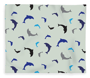 Dolphins Delight Pattern - Small - Blanket