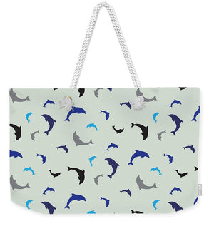 Dolphins Delight Pattern - Small - Weekender Tote Bag
