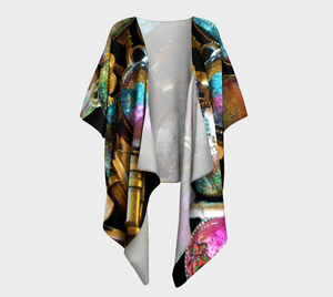 Key to my Heart Deisgn Draped Kimono