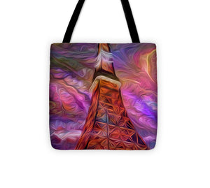 Eiffel Tower At Night - Tote Bag