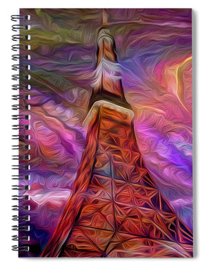 Eiffel Tower At Night - Spiral Notebook