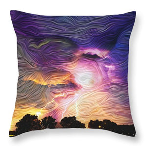 Eye of the Storm - Throw Pillow