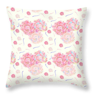 Flower Bouquet Pattern - Throw Pillow
