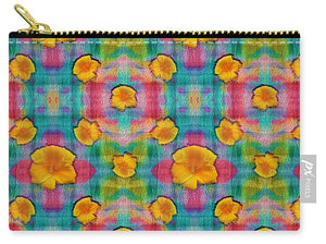 Flower Power Pattern - Carry-All Pouch