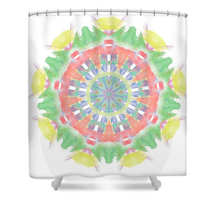 Fruity Cocktails Mandala - Shower Curtain