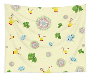 Fruity Cocktails Pattern - Tapestry