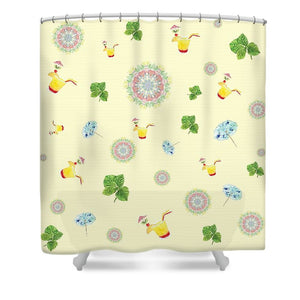 Fruity Cocktails Pattern - Shower Curtain