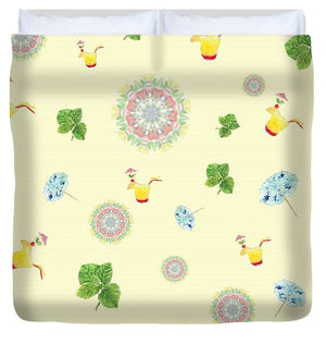 Fruity Cocktails Pattern - Duvet Cover
