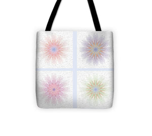 Happy Together Flowers Quadriptych - Stylized - Tote Bag
