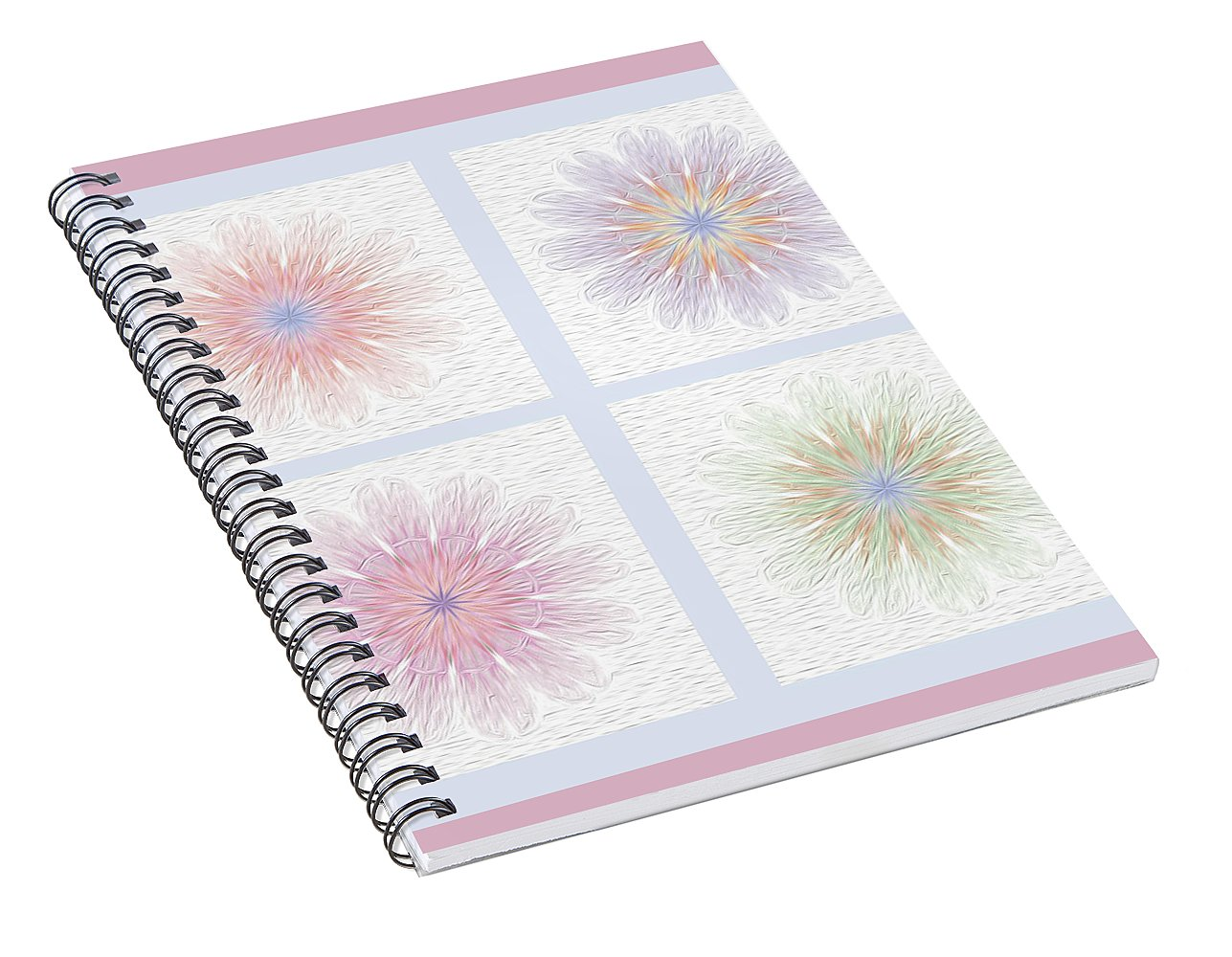 Happy Together Flowers Quadriptych - Stylized - Spiral Notebook