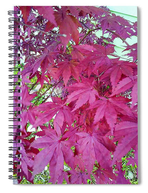 Japanese Maple Leaves - Spiral Notebook