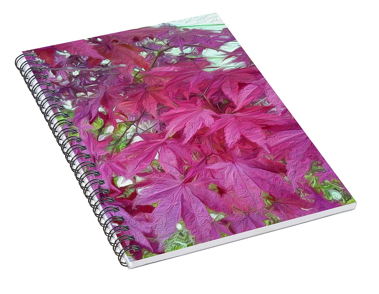 Japanese Maple Leaves - Stylized - Spiral Notebook