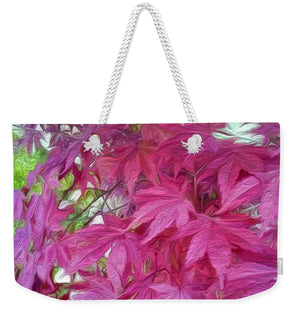 Japanese Maple Leaves - Stylized - Weekender Tote Bag