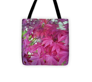 Japanese Maple Leaves - Stylized - Tote Bag