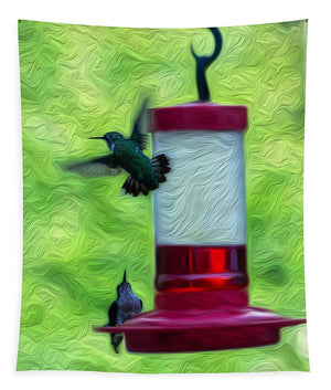 Just Passing Through - Hummingbirds - Tapestry