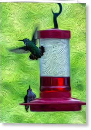 Just Passing Through - Hummingbirds - Greeting Card