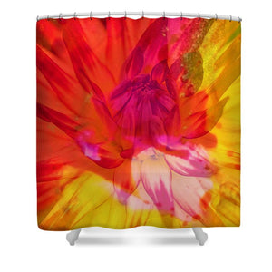 Ketchup and Mustard Floral 1 of 2 - Shower Curtain
