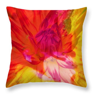 Ketchup and Mustard Floral 1 of 2 - Throw Pillow