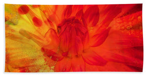 Ketchup and Mustard Floral 2 of 2 - Beach Towel