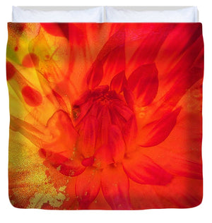Ketchup and Mustard Floral 2 of 2 - Duvet Cover