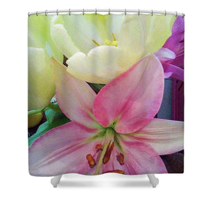 Lily and Tulips - Shower Curtain