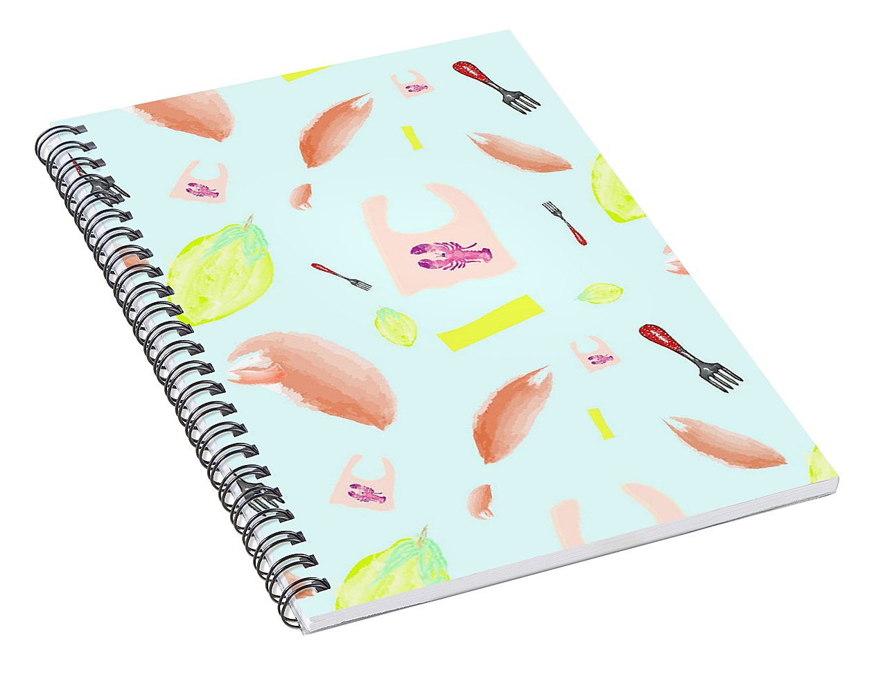 Lobster Dinner Pattern - Spiral Notebook