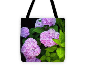 Martha's Vineyard Hydrangeas 2 - Stylized - Tote Bag