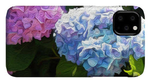 Martha's Vineyard Hydrangeas - Stylized - Phone Case