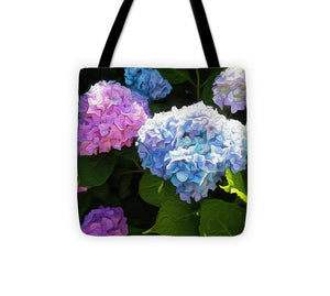 Martha's Vineyard Hydrangeas - Stylized - Tote Bag