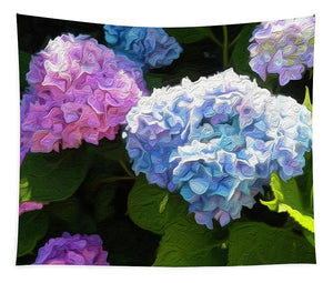 Martha's Vineyard Hydrangeas - Stylized - Tapestry
