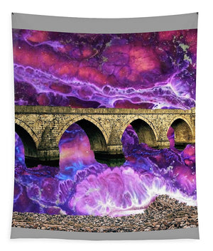 Old Bridge Over Rough Waters - Tapestry