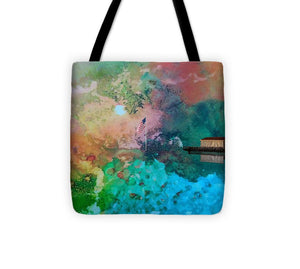 Old Glory on the Water - Tote Bag