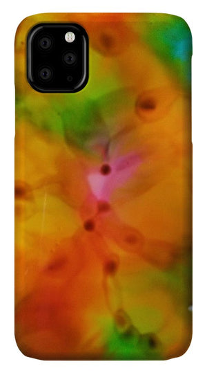 Orange Flowers Abstract - Phone Case