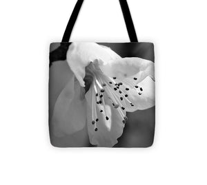 Peach Tree Blossom - Black and White - Tote Bag
