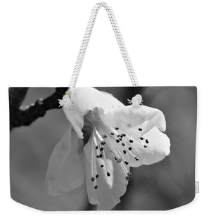 Peach Tree Blossom - Black and White - Weekender Tote Bag