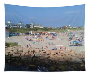 People On A Beach, Narragansett, RI - Tapestry
