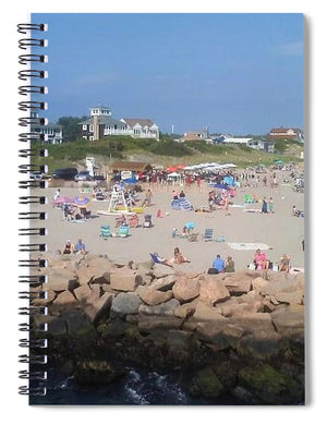 People On A Beach, Narragansett, RI - Spiral Notebook