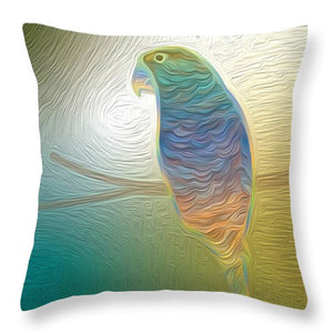 Perched Parrot - Throw Pillow