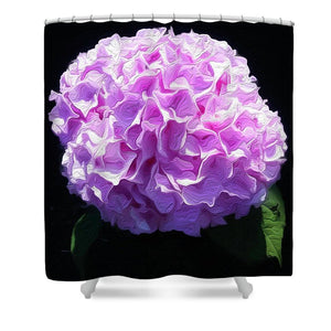 Pink Hydrangea - Stylized - Shower Curtain