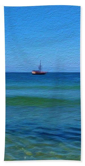 Pirate Ship, Oak Bluffs, MA - Beach Towel