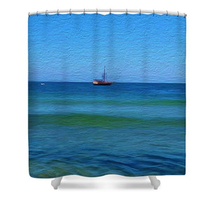 Pirate Ship, Oak Bluffs, MA - Shower Curtain