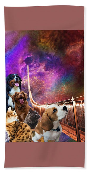 Rainbow Bridge - Cats and Dogs - Beach Towel