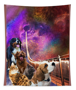Rainbow Bridge - Cats and Dogs - Tapestry