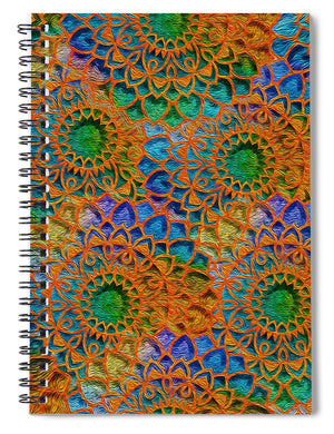 Rainbow Mandala Crochet Pattern - Spiral Notebook