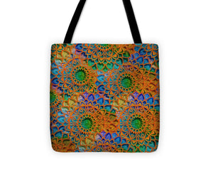 Rainbow Mandala Crochet Pattern - Tote Bag