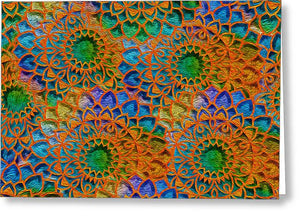 Rainbow Mandala Crochet Pattern - Greeting Card