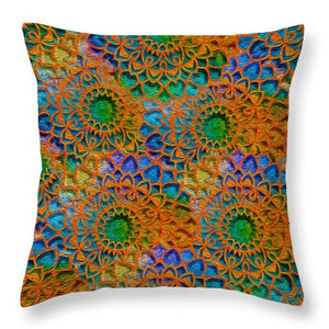 Rainbow Mandala Crochet Pattern - Throw Pillow