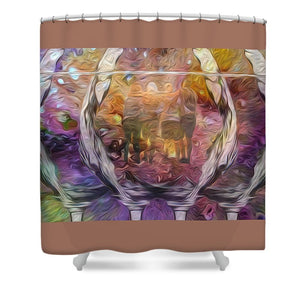 Raise Your Glass - Shower Curtain