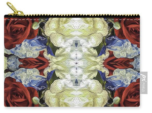 Red White and Blue Floral Pattern - Carry-All Pouch