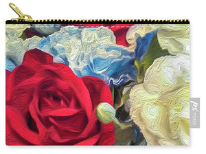 Red White and Blue Floral - Carry-All Pouch